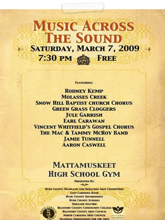 2009 Music Across the Sounds Poster