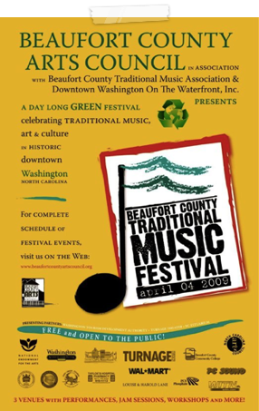 2009 Beaufort County Music Poster