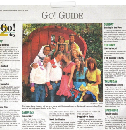 2011 Sunday in the Park Promo Article